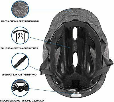 Stylish Adult Road Helmet Protector Adjustable Black