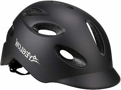 stylish adult road bike helmet with visor