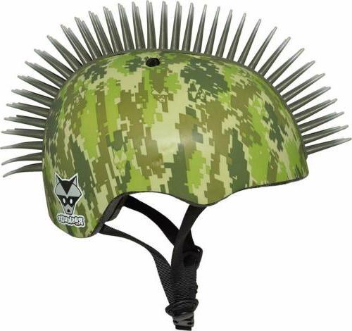 Raskullz Bonez Mohawk KIDS AGES 3+ Skate Helmet