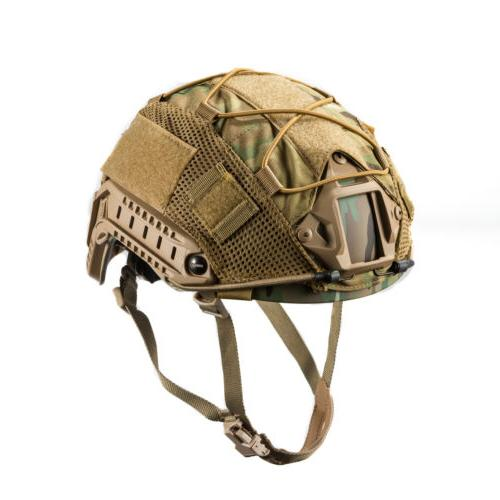 tactical camo airsoft helmet cover for ops