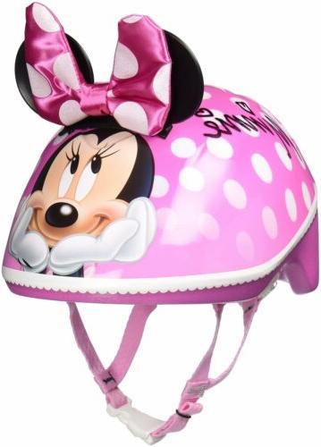 Small Kids Toddler 3D Minnie Me Bike Helmet Pink FITS 3-5 Ye