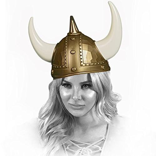Adorox Warrior Horns Plastic Hat Unisex Costume