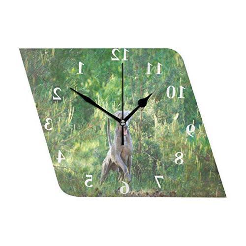 wall clock animal dog silent