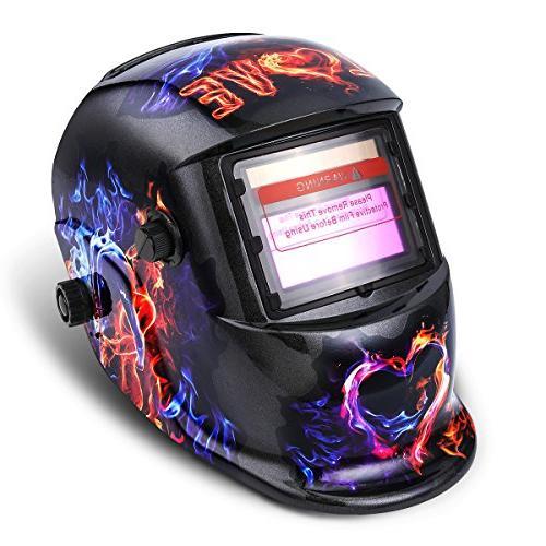 welding helmet solar powered