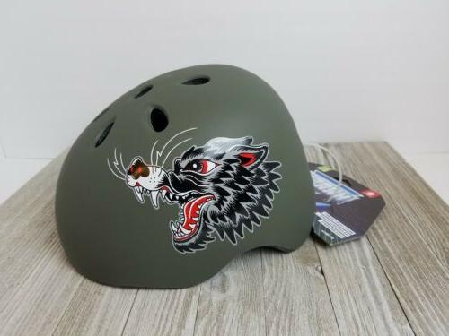 wolf bicycle bike helmet youth ages 8