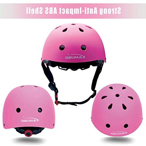 KAMUGO Kids Pads Years Helmet, Hoverboard Scooter Protective Gear Adjustable for