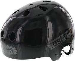 PROTEC LASEK L-SOLID BLACK W/GREY HELMET