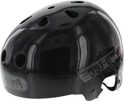 PROTEC LASEK S-SOLID BLACK W/GREY HELMET