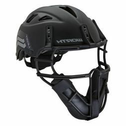 Worth Legit Slowpitch Softball Pitchers Helmet Mask Black LG