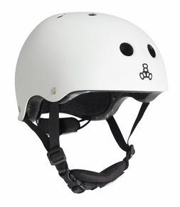 Triple Eight Lil 8 Dual Certified Helmet, White Glossy