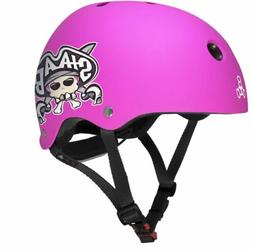 Triple Eight Lil 8 Dual Certified Helmet, Neon Pink Rubber