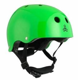 Triple Eight Lil 8 Dual Certified Helmet, Neon Green Glossy