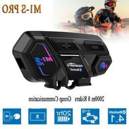 M1-S PRO 8Rider 8Way Motorcycle Intercom Headset Bluetooth H