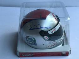 MARIO ANDRETTI, HAND SIGNED, 1/2 SCALE HELMET  , 1969 INDIAN