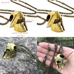 Men's Mask Viking Necklace Nordic Pagan Vintage Sparta Warri