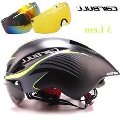 Men Women MTB Road Bike Helmet With Goggles Visor Triathlon