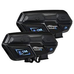 Fodsports Motorcycle Bluetooth Intercom, M1S Pro 2000m 8 Rid