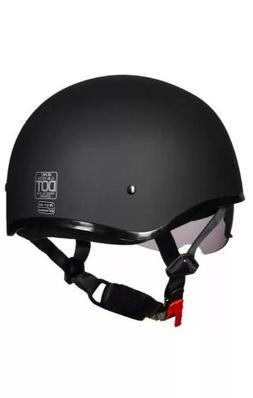ILM Motorcycle Half Helmet w/Sunshield Quick Release Strap H