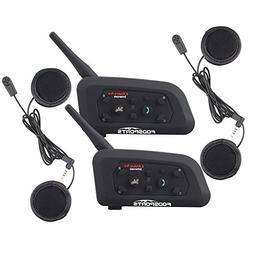 Bluetooth Motorcycle Helmet Headset Intercom,Fodsports V6 12