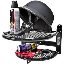 motorcycle helmet gloves jacket shelf