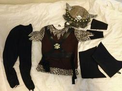 NEW Lillian Vernon 7 pc Viking Costume w/Helmet Hat 4-5 year
