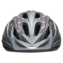 NEW Bell Sports Bia Adult Floral Bike Helmet - Titanium/Salm