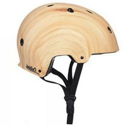 NEW!! - Critical Bicycle/Skateboard Wood Pattern Helmet Medi