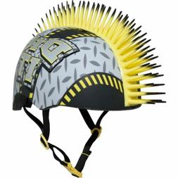 NEW! Raskullz Dig It Bike Helmet, Toddler 3+  Gray & Yellow