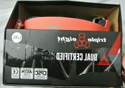 New in Box - Triple Eight Neon Tangerine Rubber Dual Certifi