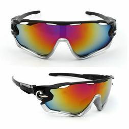 NEW Cyclocross Sunglasses Silver Black Bike Cycling  Helmet