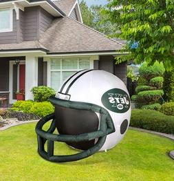 NFL New York Jets Team Inflatable Lawn Helmet, White, One Si