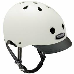 NWT NUTCASE CREAM WHITE BIKE STREET SKATE HELMET ADULT SMALL