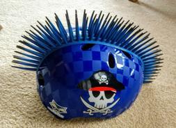 Raskullz Pirate Mohawk Blue Pirate Bike Helmet Youth Small
