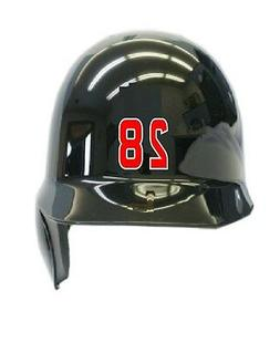 "Player's Number 1.5"" Softball Baseball Helmet Vinyl Decal St"
