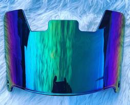 Precision Football Helmet Visor, Rainbow Green