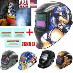 Pro Solar Auto Darkening Welding Helmet Arc Mig Tig Mask Gri