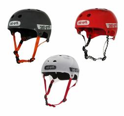pro tec bucky skateboard skate helmet red