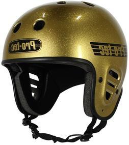 PROTEC CLASSIC FULL CUT HELMET GOLD FLAKE LARGE BMX HELMET B
