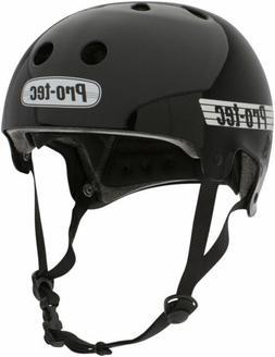 ProTec Old School Certified Helmet: Gloss Black, SM