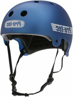 ProTec Old School Certified Helmet: Matte Metallic Blue, MD