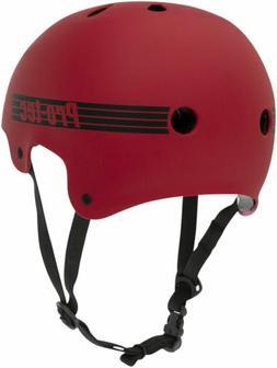 ProTec Old School Certified Helmet: Matte Red, MD