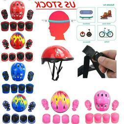 Protective Gear Outfit Kids Adjustable Helmet Knee Wrist Gua