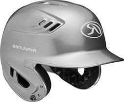 Rawlings R16 Series Metallic Batting Helmet, Silver, Junior