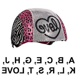Raskullz Glam Gear Kids Bike Helmet Sequins Zebra Pink Leopa