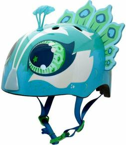 Raskullz Penelope Peacock Bike Helmet Teal for Age 5-8