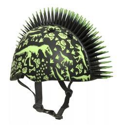 Raskullz T-Rex Bonez Mohawk KIDS AGES 3+ Bike Skate Helmet G