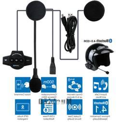 Rechargeable Motorcycle Bluetooth Helmet Intercom FM Radio B