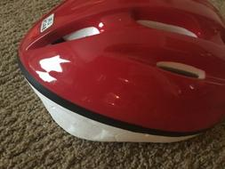 red bicycle sports safety helmet size l