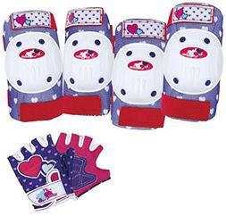 Bell Girls Riderz Street Shred Pad and Glove Set