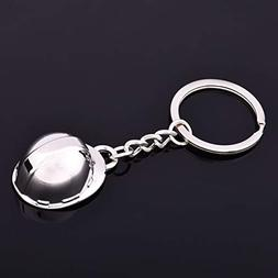 1 Pack Safety Helmet Building Worker Keychains Gifts Pendant